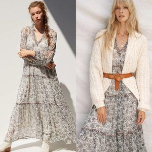 Anthropologie Romilly Tiered Maxi Dress NWT